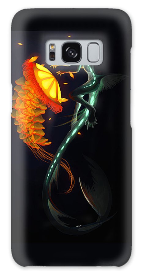 Water Galaxy S8 Case featuring the painting Glowing Depths by Nicki Lagaly