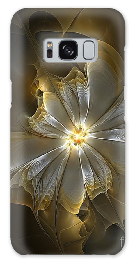Digital Art Galaxy S8 Case featuring the digital art Glowing In Silver And Gold by Amanda Moore