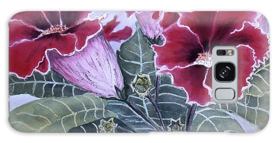 Karen Zuk Rosenblatt Art And Photography Galaxy S8 Case featuring the painting Gloxinias by Karen Zuk Rosenblatt