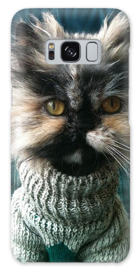 Cat Galaxy S8 Case featuring the photograph Go Ahead And Say It by Shirley Stevenson Wallis