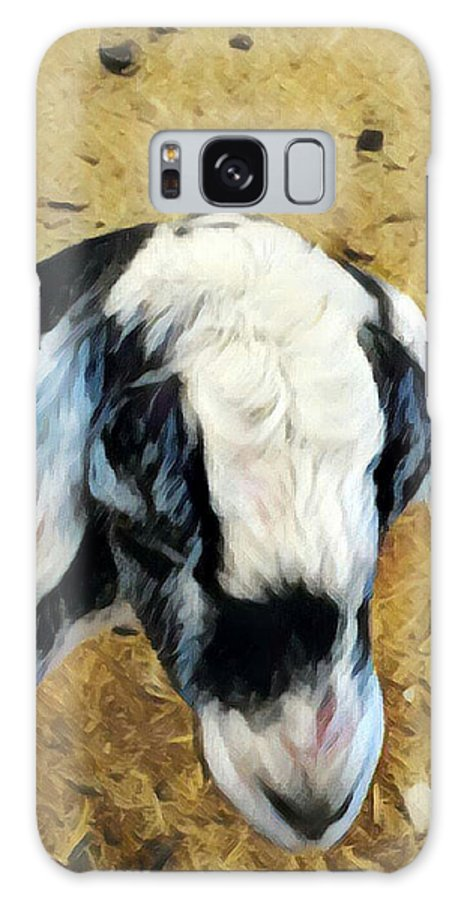 Farmanimal Galaxy S8 Case featuring the digital art Goat by Eva Vincent