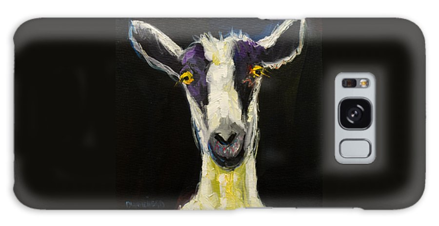 Goat Galaxy S8 Case featuring the painting Goat Gloat by Diane Whitehead