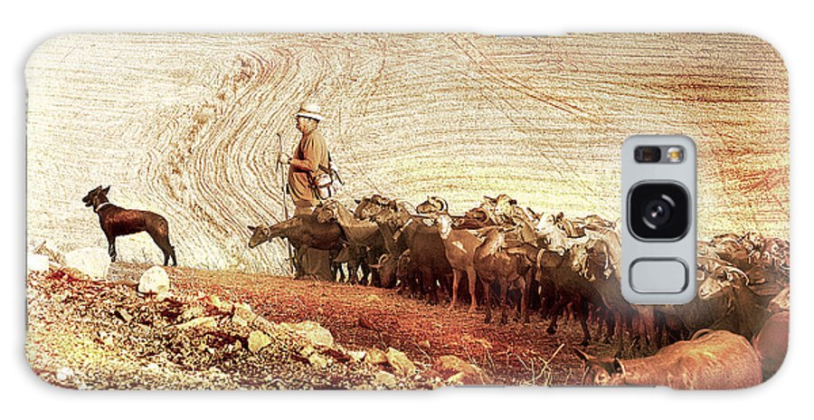 Goats Galaxy S8 Case featuring the photograph Goatherd by Mal Bray