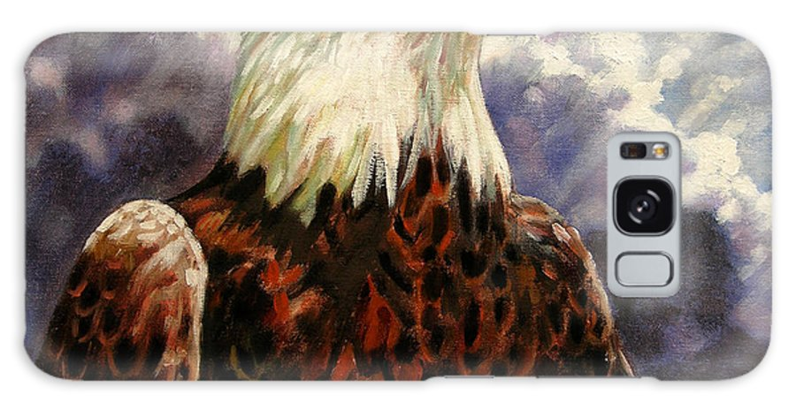American Bald Eagle Galaxy S8 Case featuring the painting God Bless America by John Lautermilch