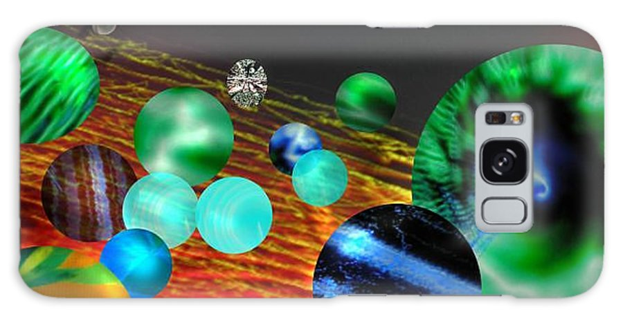 A Tribute To Donovan And His Song cosmic Wheels. A Line In The Song...god Is Playing Marbles With Galaxy S8 Case featuring the digital art God Playing Marbles Tribute To Donovan by Seth Weaver