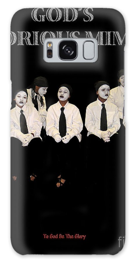 Young Mimes Waiting To Perform For God Galaxy Case featuring the photograph God by Reggie Duffie