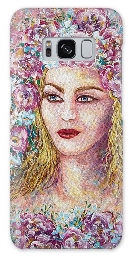 Goddess Of Good Fortune Galaxy S8 Case featuring the painting Goddess Of Good Fortune by Natalie Holland