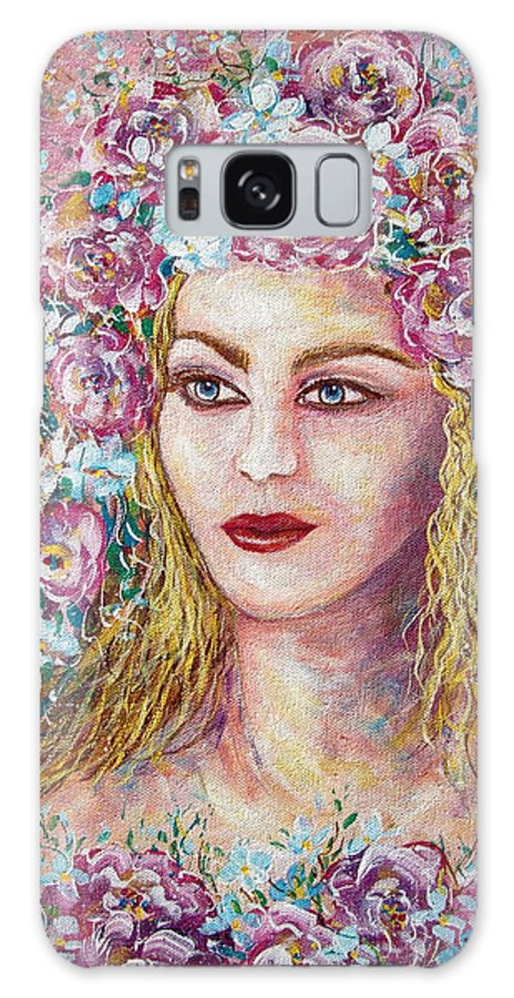 Goddess Of Good Fortune Galaxy Case featuring the painting Goddess Of Good Fortune by Natalie Holland