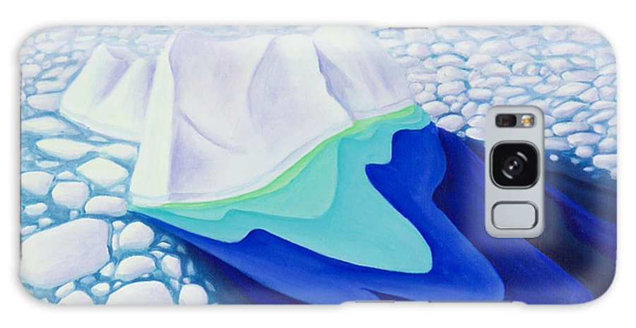 Arctic Galaxy S8 Case featuring the painting Going With The Floe by Lynn Soehner