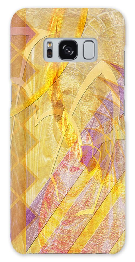 Gold Fusion Galaxy Case featuring the digital art Gold Fusion by John Beck
