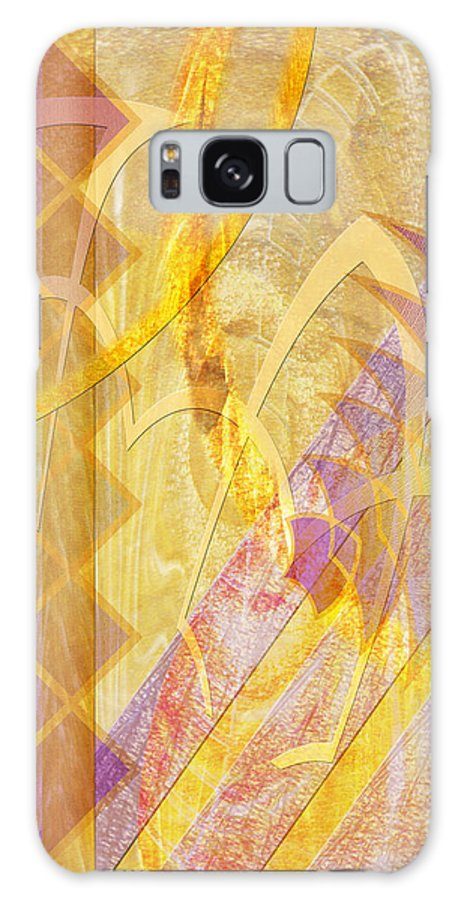 Gold Fusion Galaxy S8 Case featuring the digital art Gold Fusion by John Beck