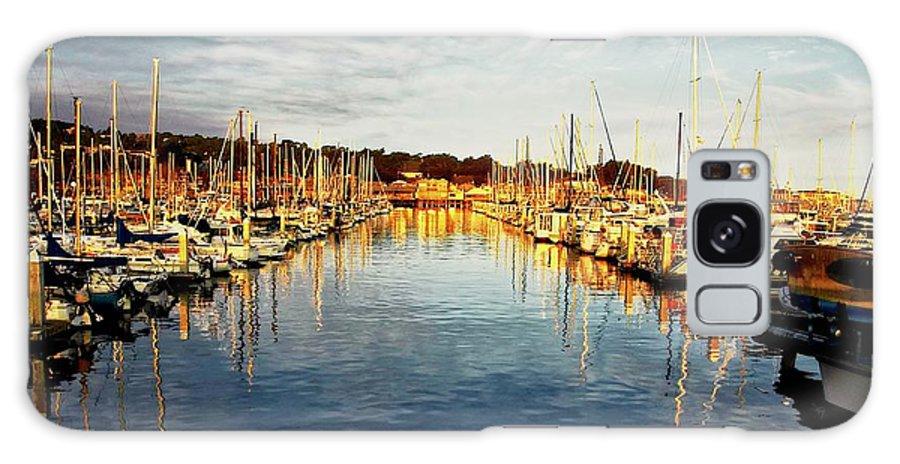 Sunrise Galaxy Case featuring the photograph Gold Light, Monterey Marina by Zayne Diamond Photographic