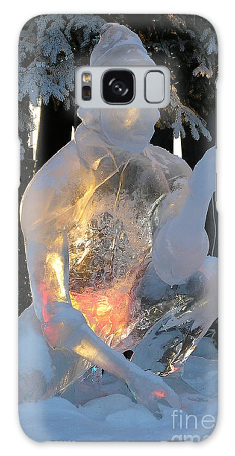 Ice Sculpture Galaxy S8 Case featuring the photograph Gold Miner by Louise Magno