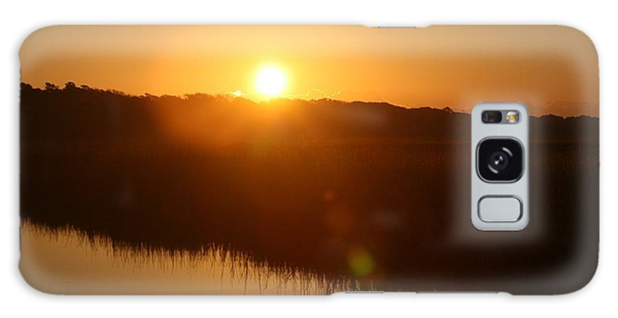 Glow Galaxy Case featuring the photograph Gold Morning by Nadine Rippelmeyer