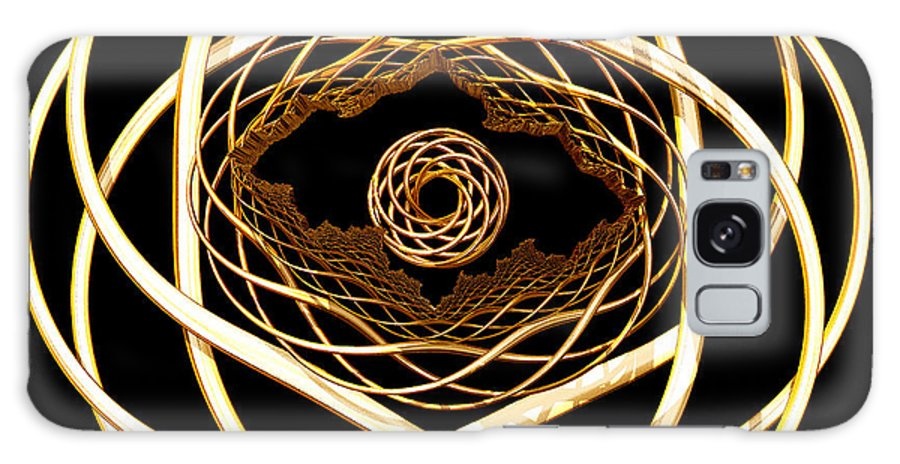 Fractal Galaxy S8 Case featuring the digital art Gold On Gold by Deborah Benoit