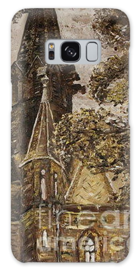 Galaxy Case featuring the painting Gold Thun Castle by Pablo de Choros