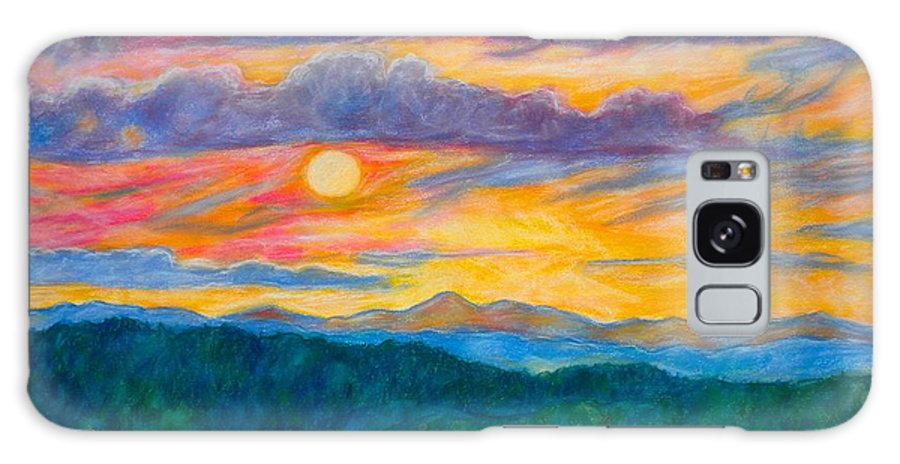 Landscape Galaxy Case featuring the painting Golden Blue Ridge Sunset by Kendall Kessler