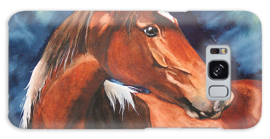 Horse Galaxy S8 Case featuring the painting Golden Boy by Jean Blackmer