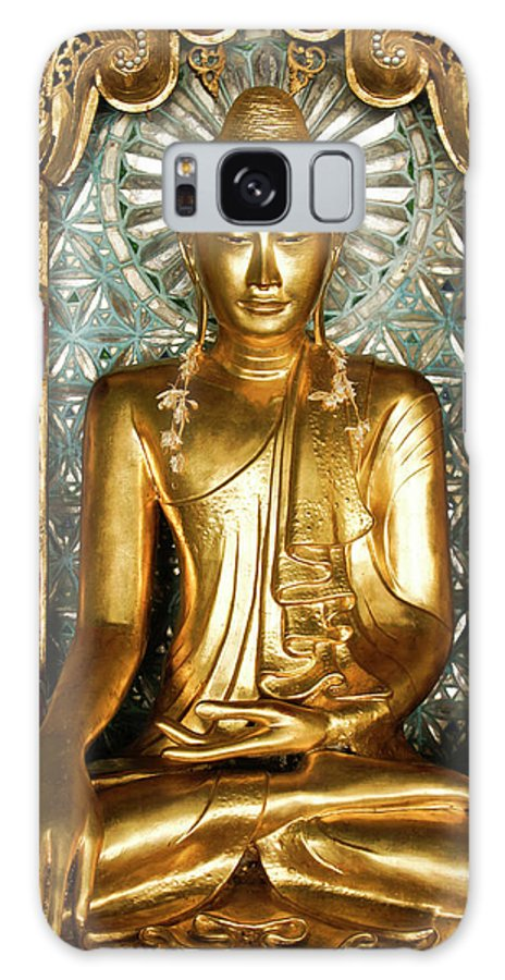 Asia Galaxy S8 Case featuring the photograph Golden Buddha by Michele Burgess