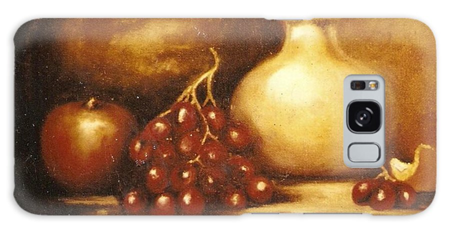 Still Life Galaxy S8 Case featuring the painting Golden Carafe by Jordana Sands