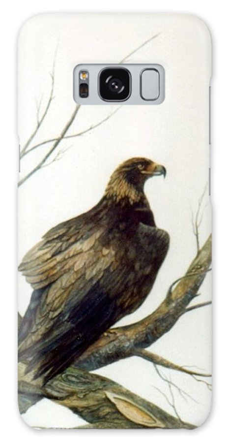 Eagle Galaxy Case featuring the painting Golden Eagle by Ben Kiger