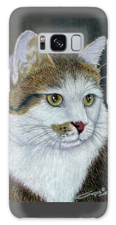 Fuqua - Artwork Galaxy S8 Case featuring the drawing Golden Eyes by Beverly Fuqua