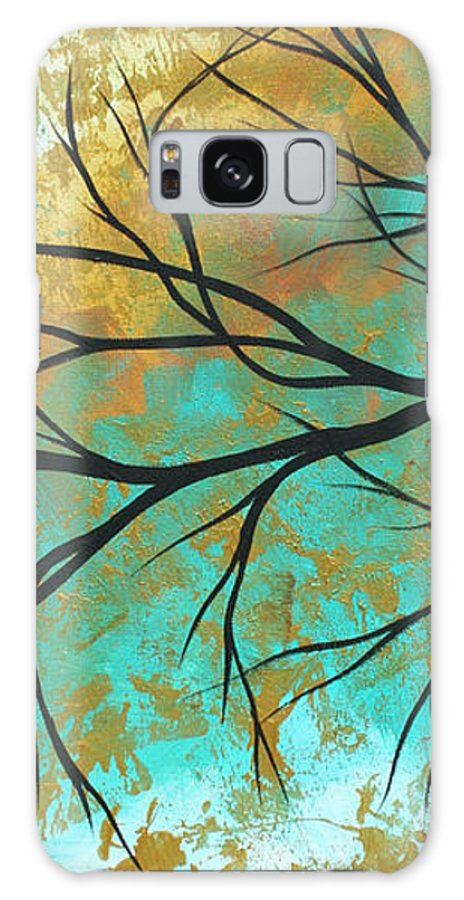 Painting Galaxy S8 Case featuring the painting Golden Fascination 2 by Megan Duncanson