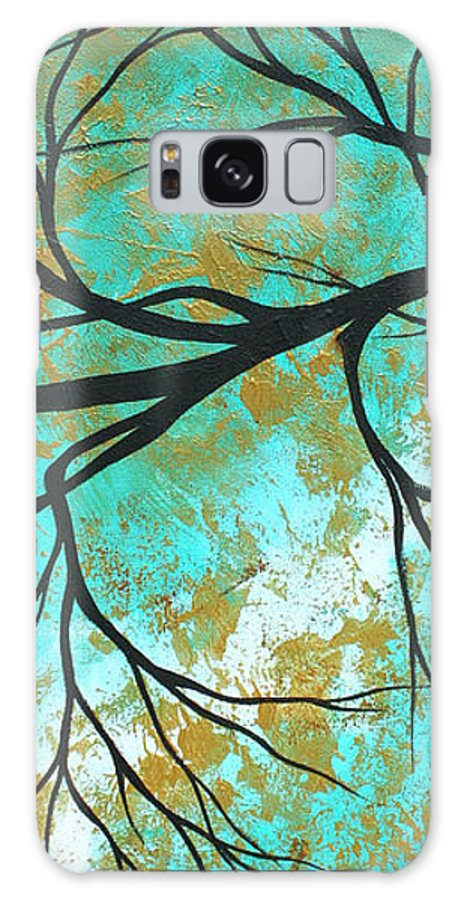 Painting Galaxy S8 Case featuring the painting Golden Fascination 3 by Megan Duncanson