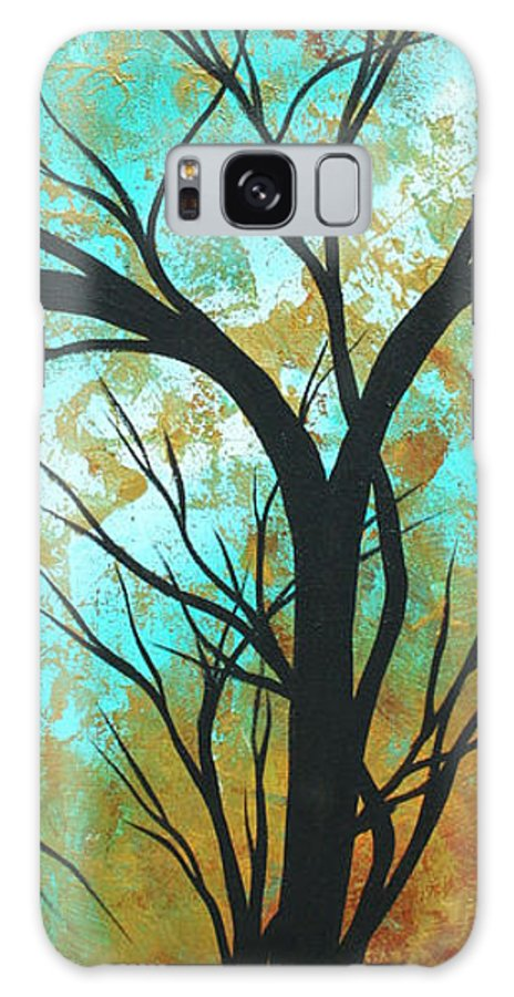Painting Galaxy S8 Case featuring the painting Golden Fascination 4 by Megan Duncanson