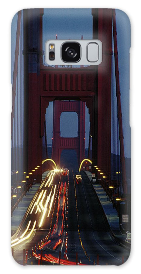 Evening Galaxy S8 Case featuring the photograph Golden Gate Bridge by Carl Purcell
