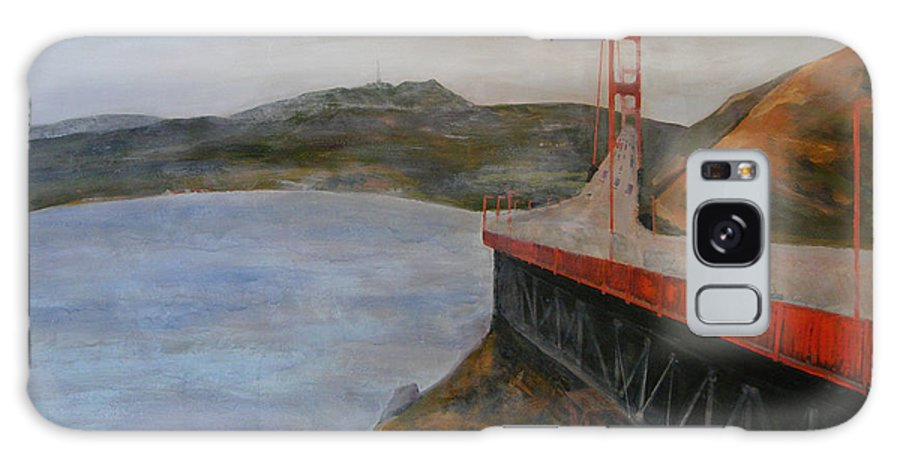 Golden Gate Bridge Galaxy Case featuring the painting Golden Gate Bridge by Ellen Beauregard