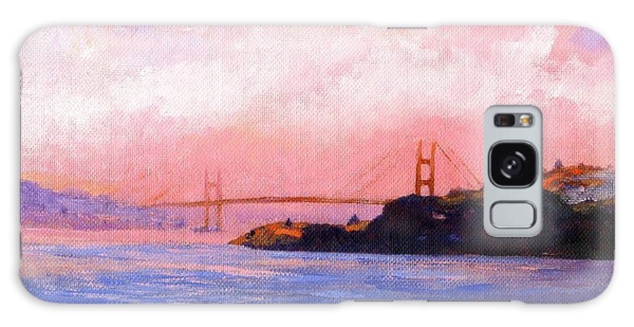Landscape Galaxy S8 Case featuring the painting Golden Gate Bridge by Frank Wilson