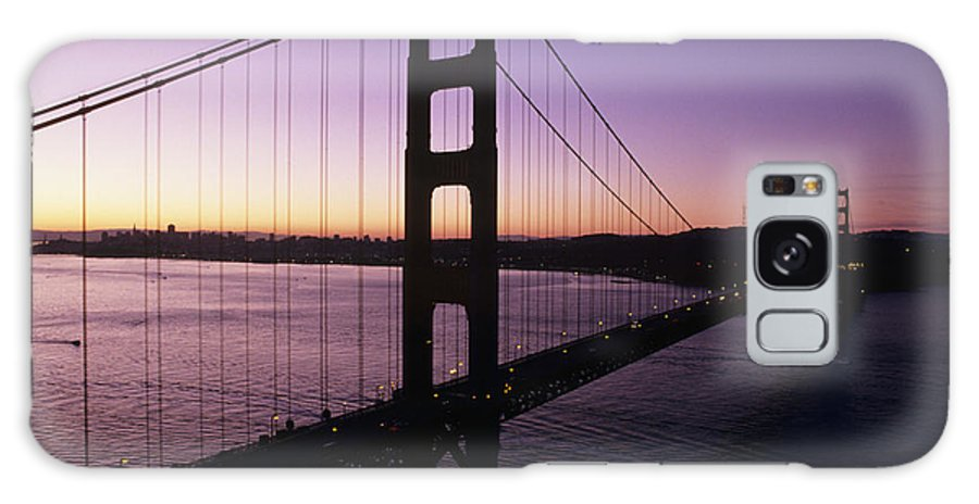 Across Galaxy S8 Case featuring the photograph Golden Gate by Larry Dale Gordon - Printscapes