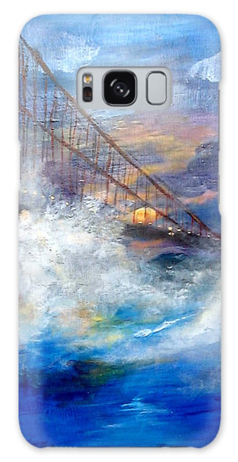 Golden Gate Galaxy S8 Case featuring the painting Golden Gate Sunset by Travis Day