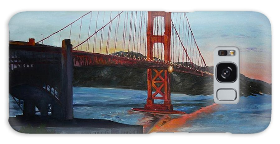 San Francisco Galaxy S8 Case featuring the painting Golden Gate by Travis Day