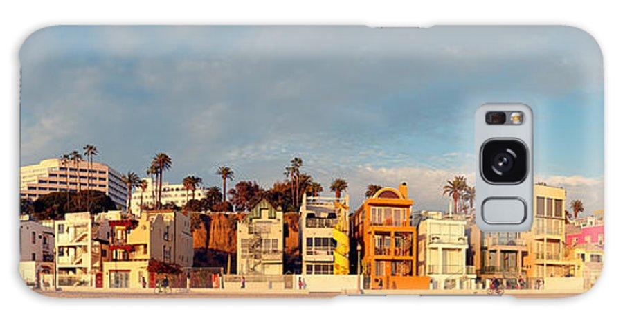 Santa Monica Galaxy S8 Case featuring the photograph Golden Hour Panorama Of Santa Monica Condos And Bungalows - Los Angeles California by Silvio Ligutti