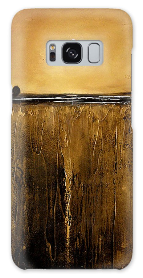 Minimalist Galaxy S8 Case featuring the painting Golden Inspirations by Toni Grote