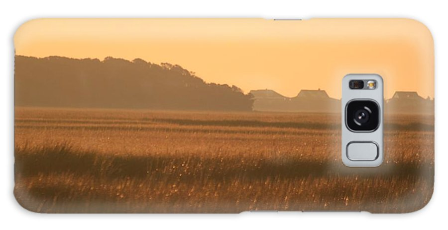 Marsh Galaxy S8 Case featuring the photograph Golden Marshes by Nadine Rippelmeyer