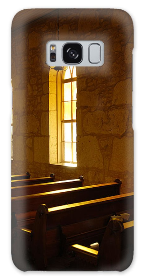 Worship Galaxy S8 Case featuring the photograph Golden Pews by Jill Reger