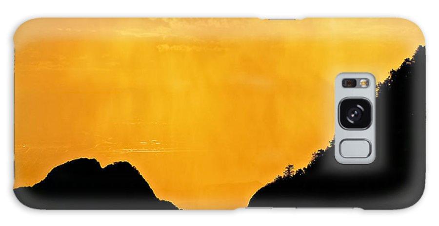 Nature Galaxy Case featuring the photograph Golden Rain Over Albuquerque, New Mexico by Zayne Diamond Photographic