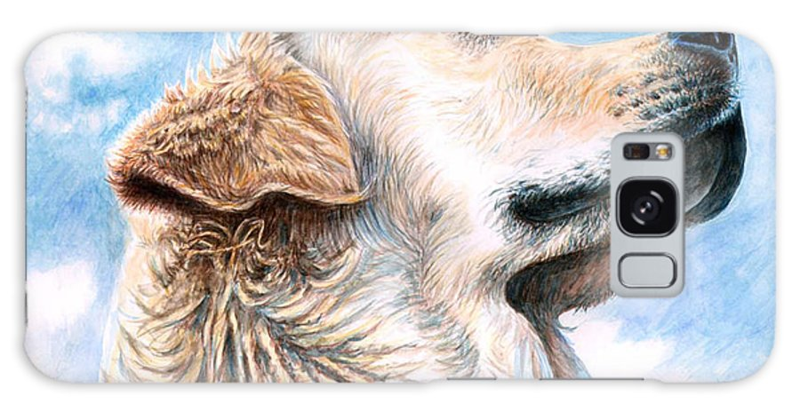 Dog Galaxy Case featuring the painting Golden Retriever by Nicole Zeug