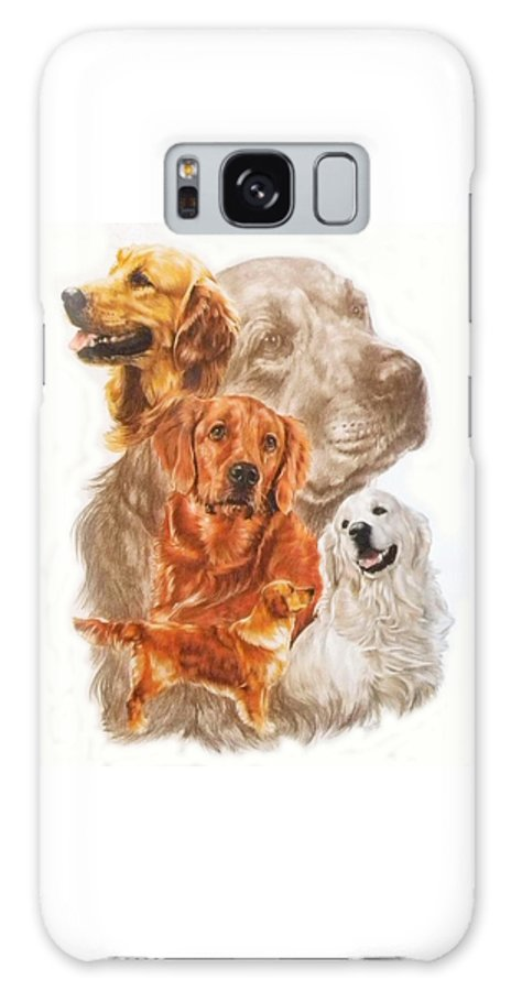 Retriever Galaxy S8 Case featuring the mixed media Golden Retriever W/ghost by Barbara Keith