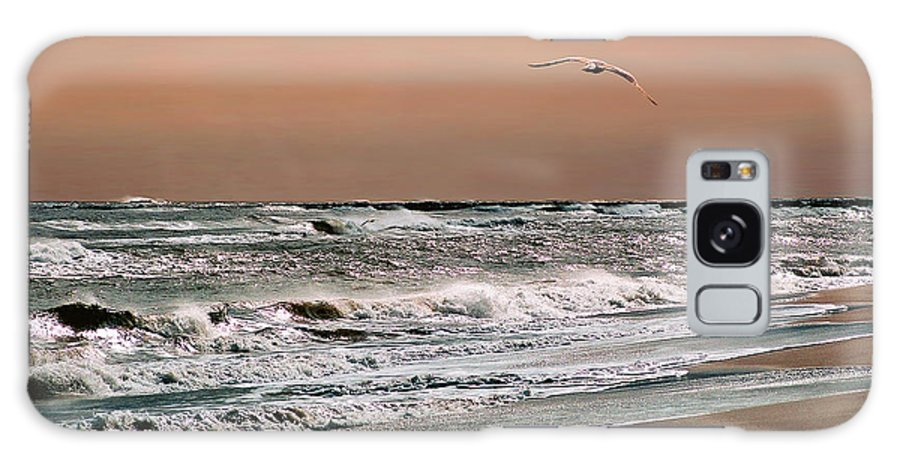 Seascape Galaxy Case featuring the photograph Golden Shore by Steve Karol