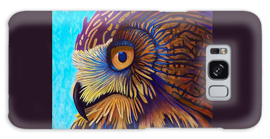 Owl Galaxy S8 Case featuring the painting Golden Silence by Brian Commerford