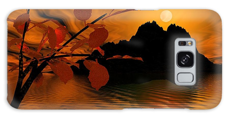 Landscape Galaxy Case featuring the digital art Golden Slumber Fills My Dreams. by David Lane