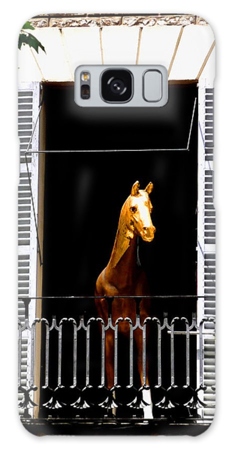 Horse Galaxy Case featuring the photograph Golden Stallian by Charles Stuart
