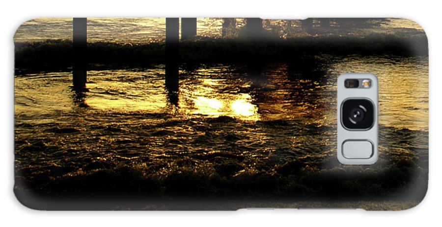 Ocean Galaxy S8 Case featuring the photograph Golden Surf by Linda Shafer