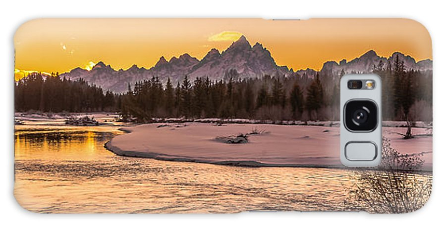 Sunset Galaxy S8 Case featuring the photograph Golden Teton Sunset by Yeates Photography