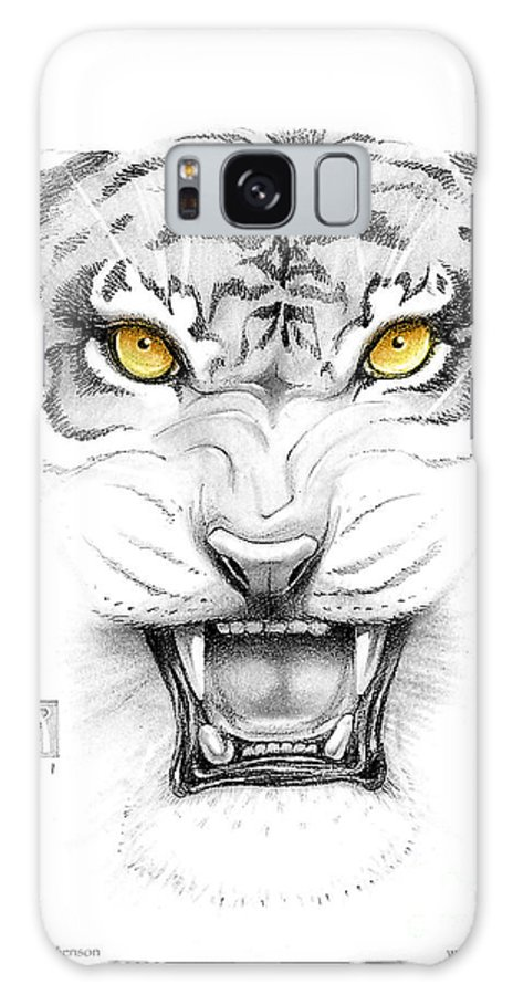 Amber Galaxy Case featuring the digital art Golden Tiger Eyes by Melissa A Benson