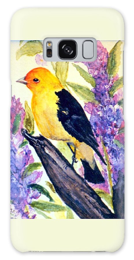 Birds Galaxy S8 Case featuring the painting Goldfinch by Gail Kirtz